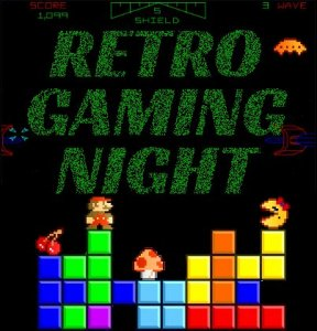 retro gaming night poster