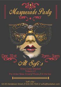 sofi's masquerade party poster