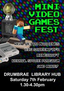 Drumbrae Library Mini Video Games Fest poster