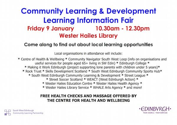 Learning Information Fair 9 January 2015