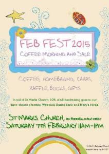 St Mark's Portobello FebFest coffee morning poster