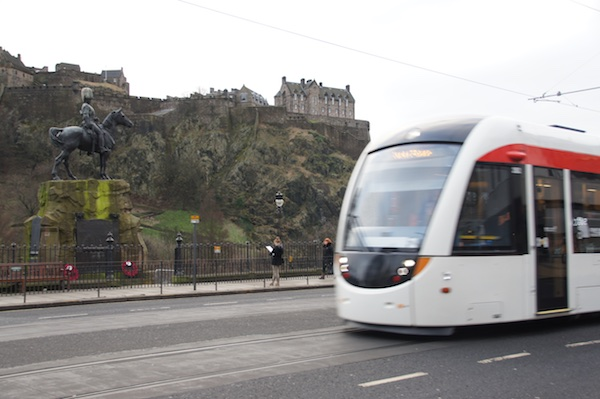 TER Princes Street with castle and tram 6
