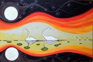 alasdair macdonald painting for sofi's launch january 2015
