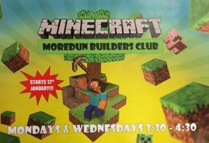 minecraft club poster