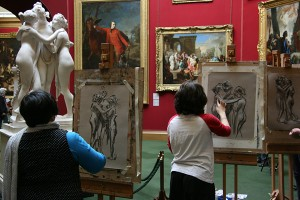 Easel Sketching at Scottish National Gallery