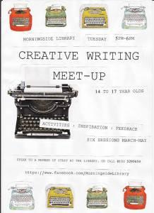 Morningside teens creative writing group poster