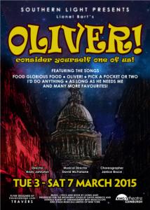 Oliver poster - southern light opera company