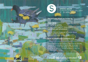 Dundas St Gallery Spring Show poster