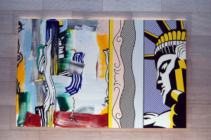 Lichenstein - Painting with Statue of Liberty