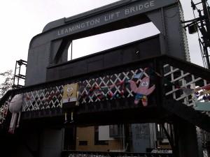 craft bombing on the Leamington Bridge 2014 Re-union