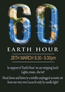 earth hour at Boda's