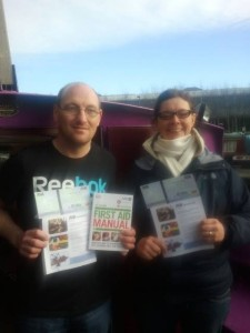 two members of the Sorted Project with their certficates re-union