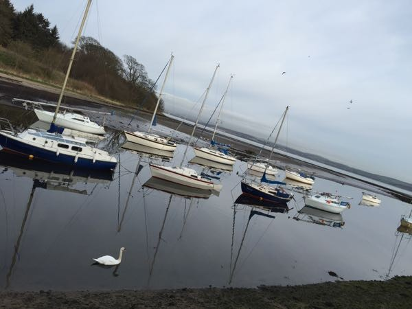 Cycling out to Cramond is a good way to get some exercise miles under your belt.