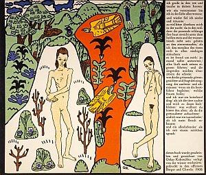 Die traumenden Knaben: Oscar Kokoschka 1908, copyright DACS 2004