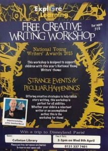 colinton young writers' workshop poster
