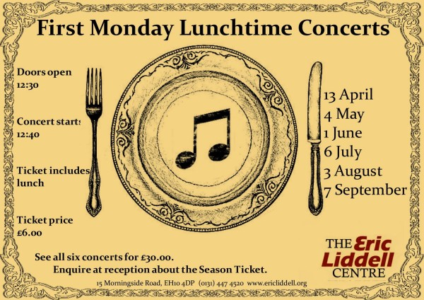 first monday lunchtime concerts at eric liddell centre