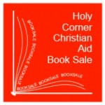 holy corner christian aid book sale poster