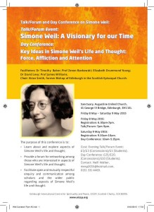 simone weil conference poster