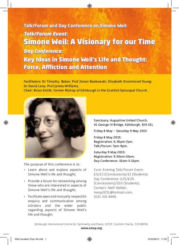 simone weil essays Essays by robert zaretsky 10/08/2017 12/19/2017 seventy-five years ago, the french philosopher and religious mystic simone weil was a prisoner of new york as she.