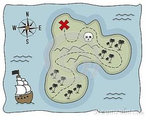 treasure island library poster