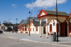 The old station at Ballater, now sadly gone