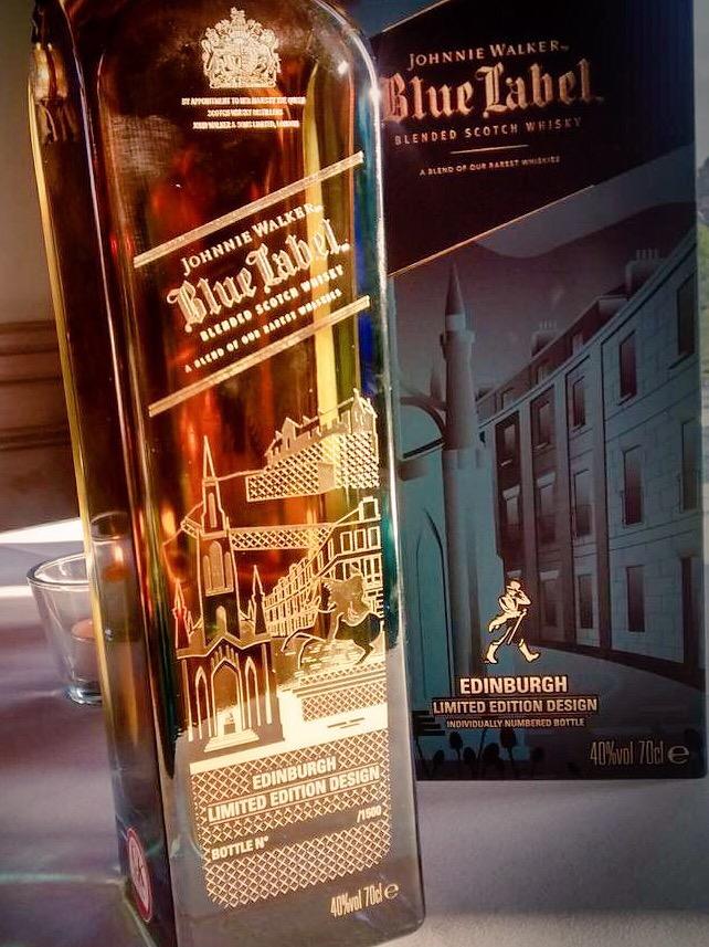 johnnie walker blue label unveils edinburgh city edition bottle the edinburgh reporter. Black Bedroom Furniture Sets. Home Design Ideas
