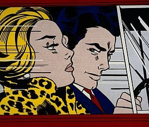 In the Car by Roy Lichtenstein 1963, copyright The Estate of Roy Lichtenstein/DACS 2004