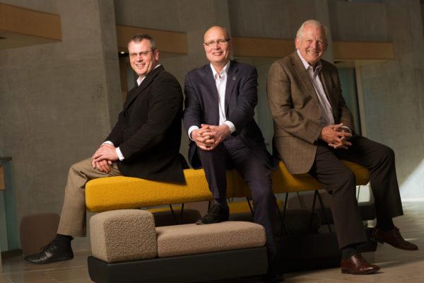 Stuart Stratford, Alex Reedijk and Sir Thomas Allen. Scottish Opera 2015. Credit James Glossop