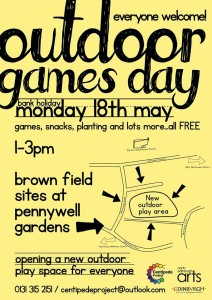 centipede outdoor games day poster