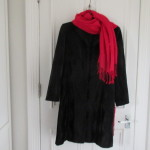 coat from hospices of hope shop (with red scarf)