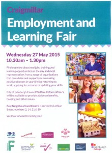 craigmillar employement and learning fair poster