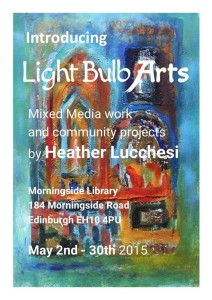 heather lucchesi exhibition at morningside library May 2015