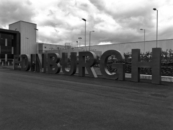 TER Edinburgh sign at airport - 1