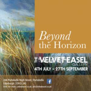 beyond the horizon at velvet easel