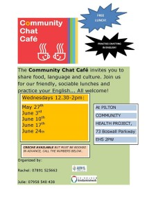 community chat cafe poster