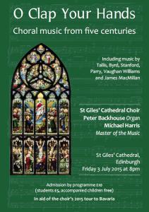 o clap your hands - st giles' choir concert
