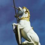 unicorn on mercat cross
