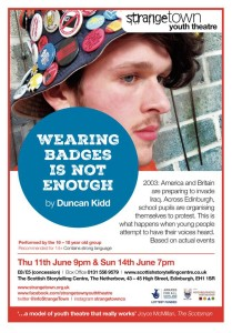 wearing badges is not enough poster