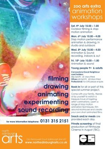 zoo arts animation workshops poster