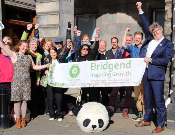 Bridgend campaigners celebrate