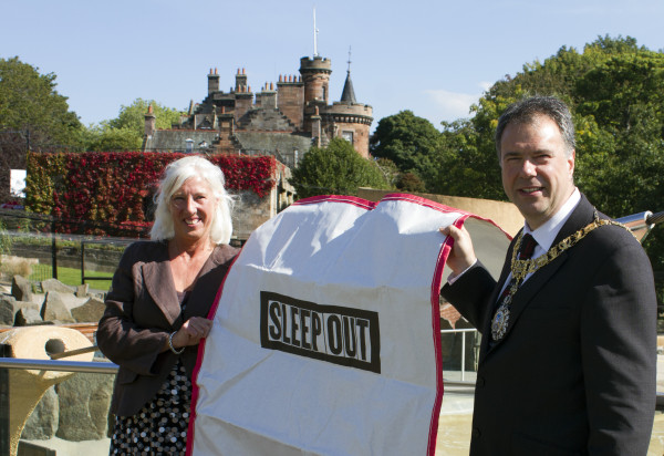 Lord and Lady Provost prepare to Sleep Out at the Zoo 1