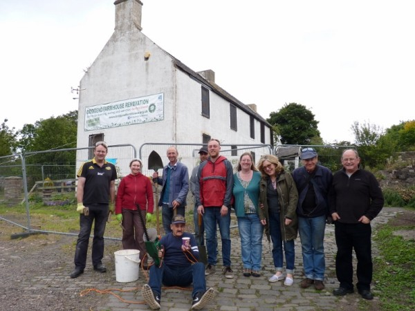 """Volunteers at Bridgend Farmhouse hoping the Council will say """"Yes""""."""