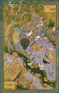The Conference of the Birds - illustration from the 12th century Persian poem.