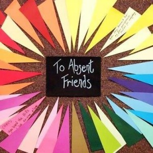 to absent friends memory board