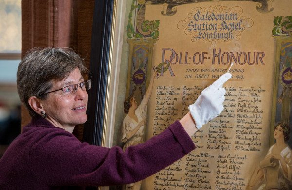 Pic: The work was undertaken by Helen Creasy at the Scottish Conservation Studio