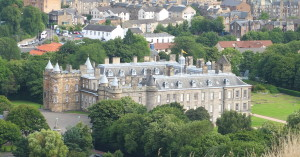holyroodhouse from above