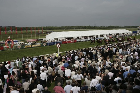 Finishing post on Musselburgh Racecourse