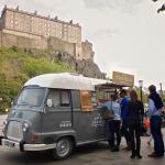 The Crema Caravan at Edinburgh Farmers Market. Photo Credit Leo Fiorillo