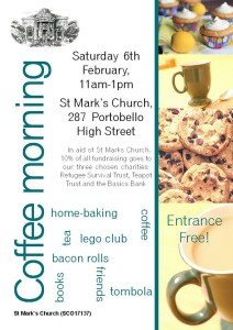 st mark's portobello coffee morning poster