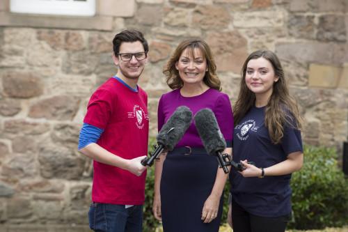 Broadcaster and TV star Lorraine Kelly visitng Edinburgh Naper U